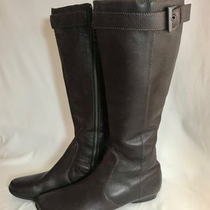 BORN Tall Brown Leather Boots 7.5